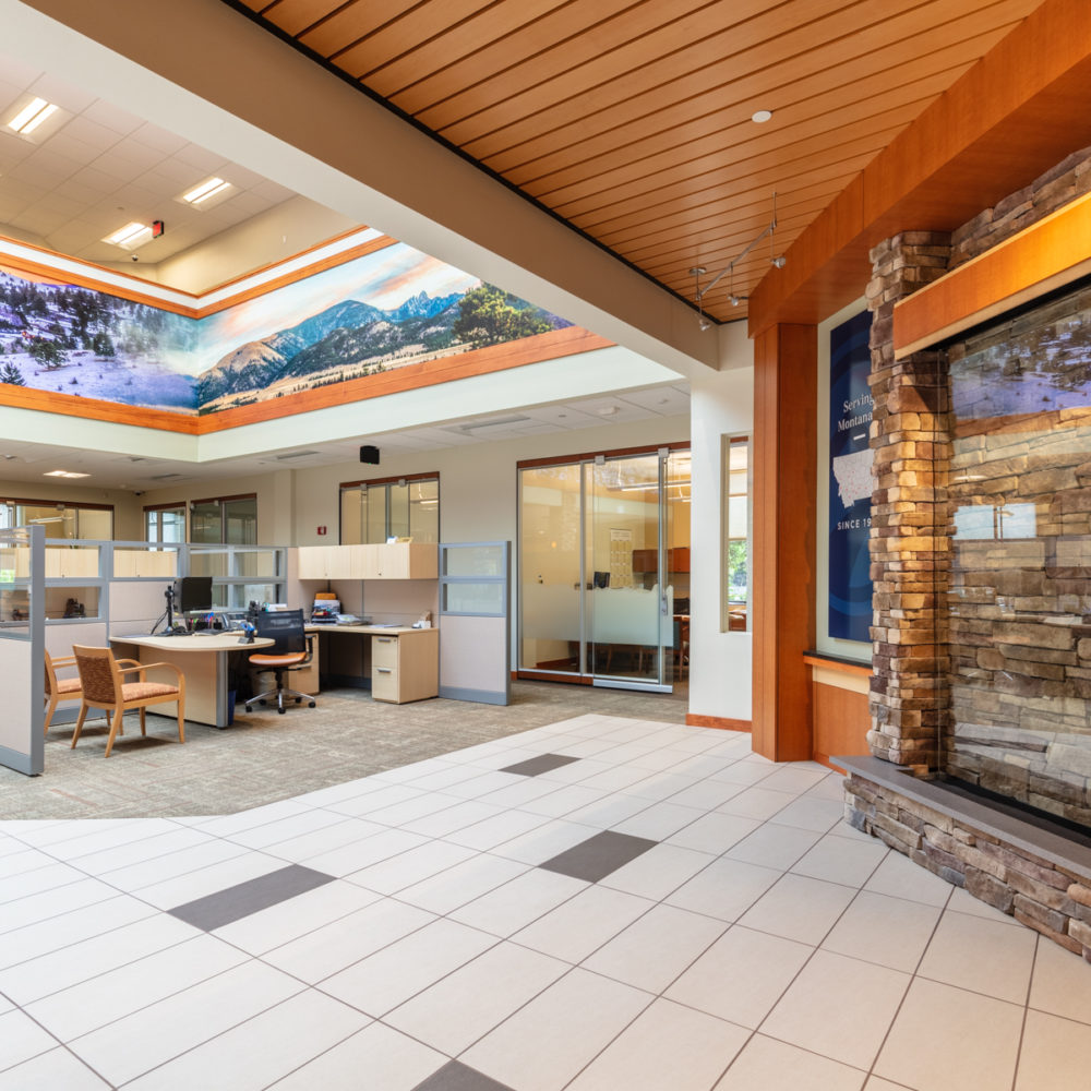 Opportunity Bank Remodel by Diamond Construction Helena, MT